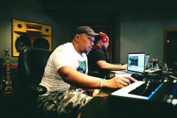 Sound professionals working in lab