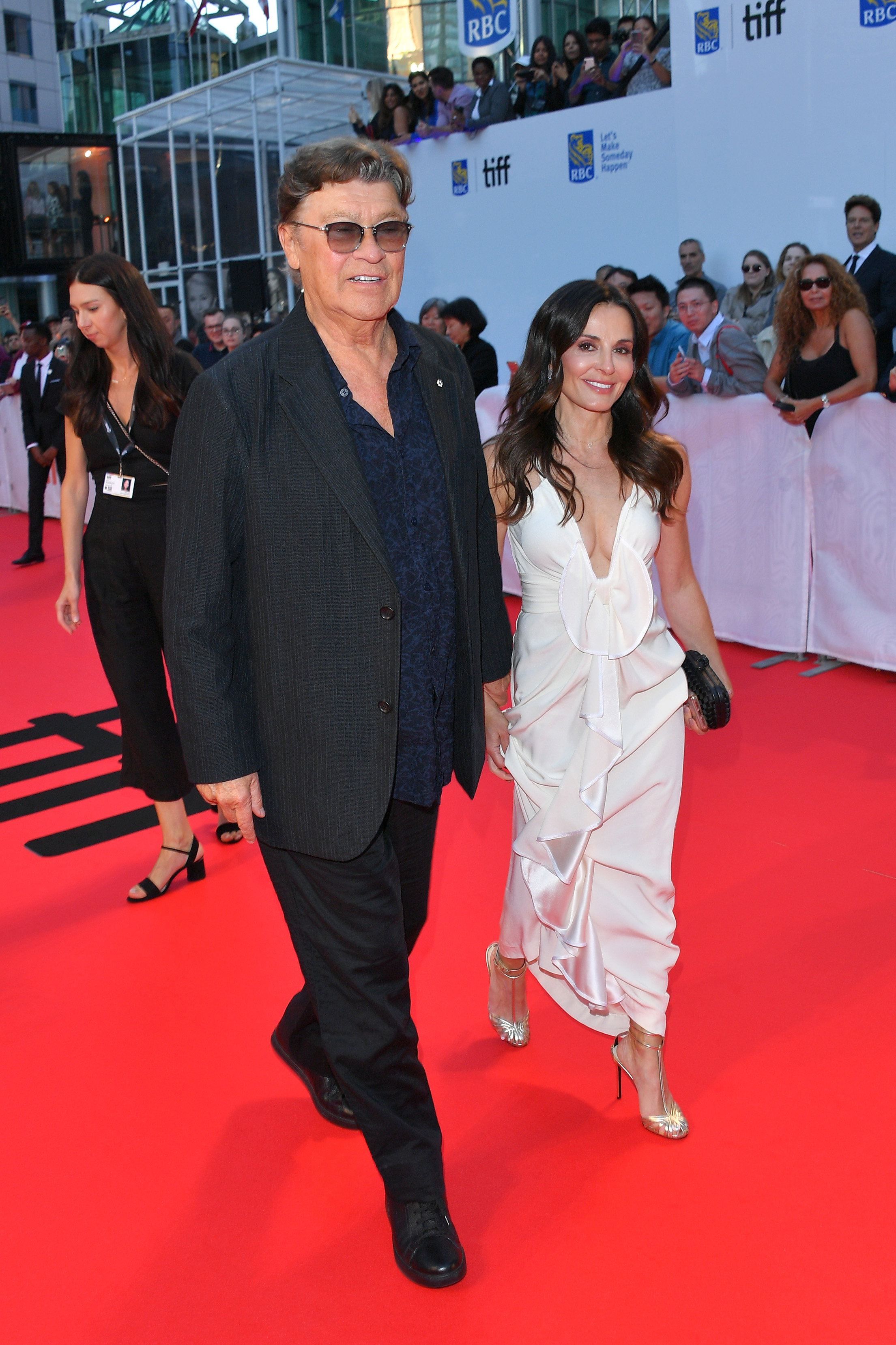 Robbie Robertson and Janet Zuccarini at TIFF red carpet