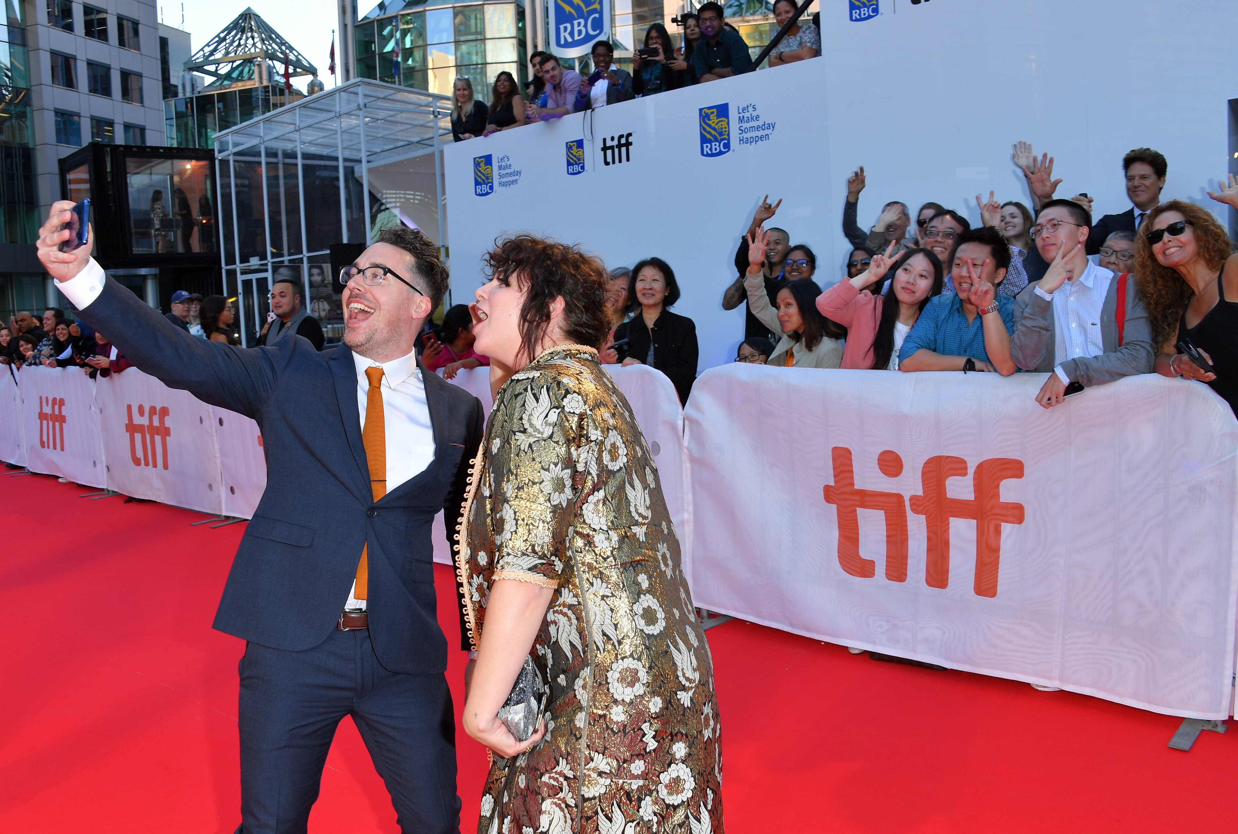 Sam Sutherland and Lana Belle Mauro at TIFF Red Carpet
