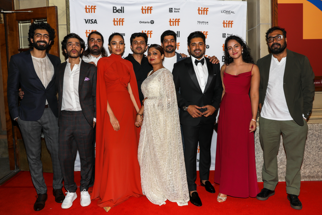 The cast and crew of The Elder One at TIFF red carpet