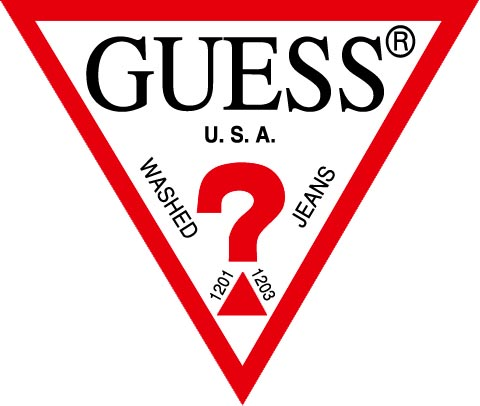 Classic GUESS Red Triangle Logo