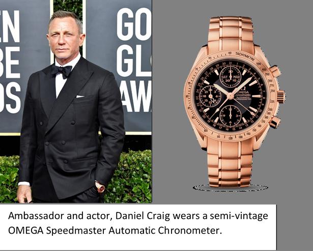 Daniel Craig, Semi-Vintage Omega Speedmaster Automatic Chronometer