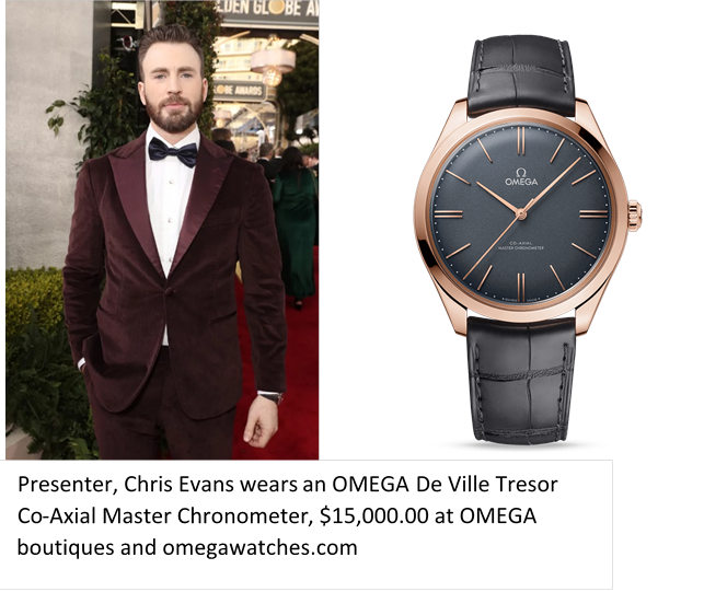 Chris Evans, Omega De Ville Tresor Co-Axial Master Chronometer