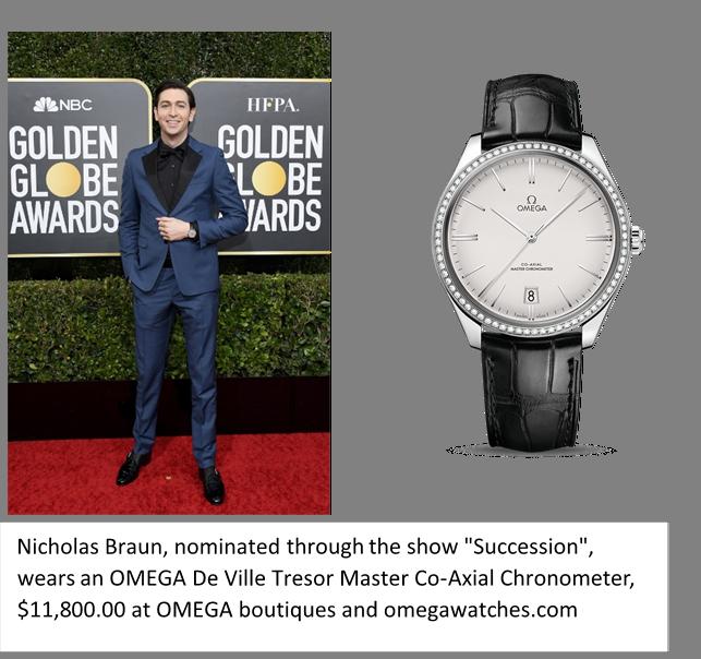 Nicholas Braun, Omega De Ville Tresor Master Co-Axial Chronometer